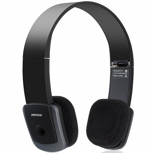 3c916a44d32 Mpow Bluetooth 4.0 AptX headphones -- about $37 on Amazon. Nice sounding  and lightweight. Comfortable, not tight fitting on my head, very gentle.